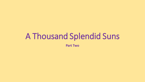 literary analysis thousand slendid suns