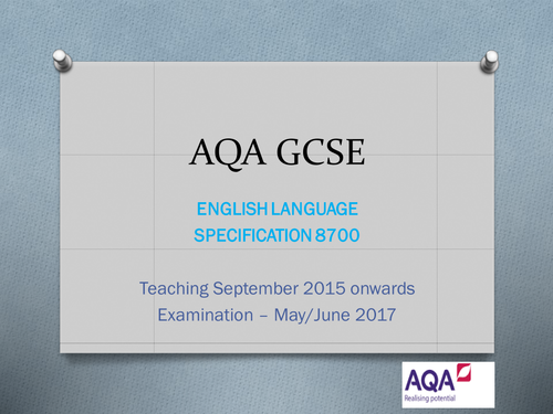 AQA GCSE English Language Paper 1 Reading (September 2015 onwards)