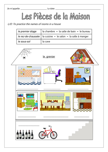 French les pi ces de la maison by labellaroma teaching resources tes - Piece de la maison en c ...