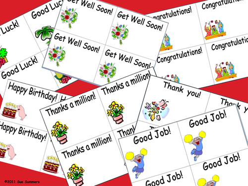 English Greeting Cards - Happy Birthday, Good Job, Thank You, and More!