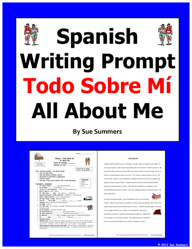 Spanish Writing Assignment / Essay Todo Sobre Mi - All About Me