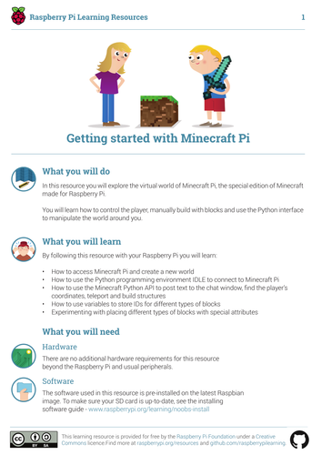Getting Started with Minecraft Pi