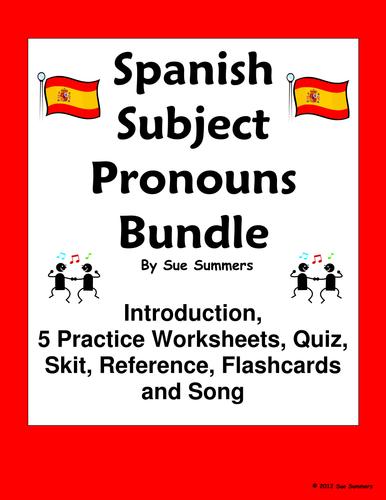 Spanish Subject Pronouns Bundle - Practice, Quiz, Skit, Intro and More