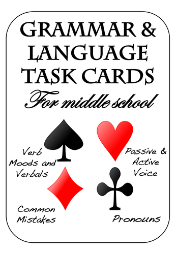 Grammar & Language Task Cards by LanguageArtsLab