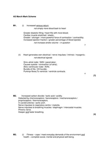 AQA GCE PE PHED 1 Exam Papers