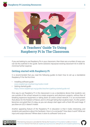 Teachers' Classroom Guide to Raspberry Pi