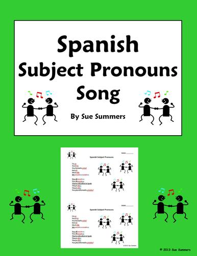 Spanish Subject Pronouns Song