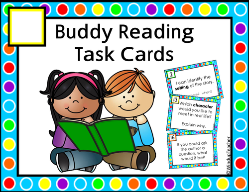 Buddy Reading Center Task Cards