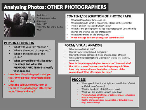 Photography is my life - Teaching Resources - TES