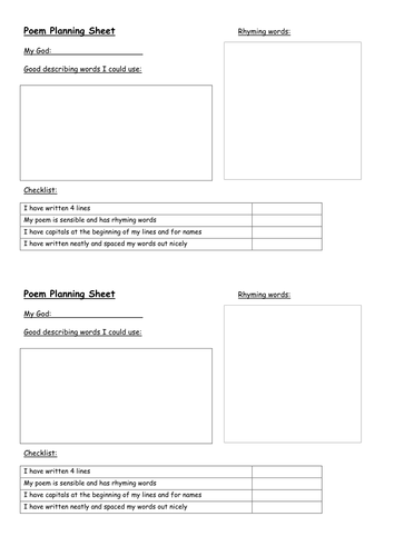 Roman Poetry Writing Templates