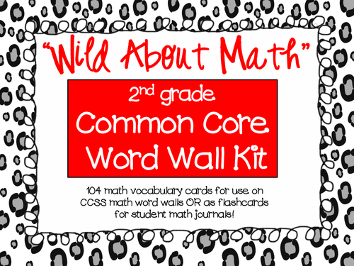 COMMON CORE MATH - Vocabulary Word Wall Kit