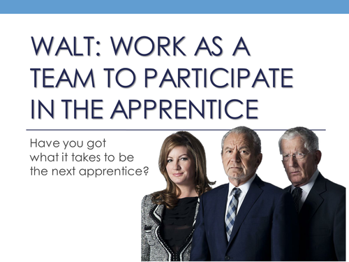 KS3 Speaking and Listening Presentation - The Apprentice - Pitching Fast Food Restaurant - 7 Lessons