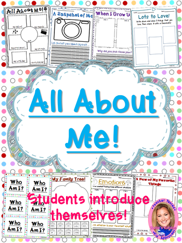 UK Back to School: All About Me packet!