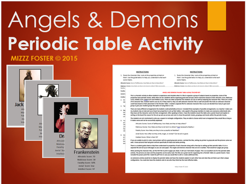 Periodic Table Activity: Angels & Demons