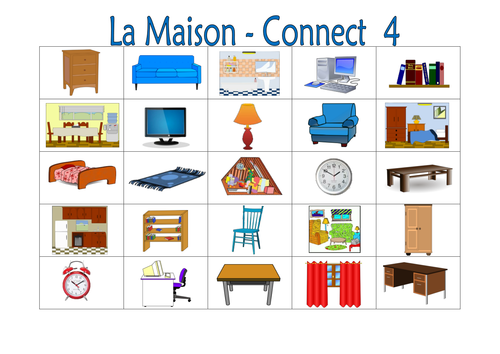 french la maison connect 4 by labellaroma teaching resources tes. Black Bedroom Furniture Sets. Home Design Ideas