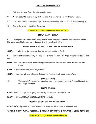 Christmas Nativity Script - 30 speaking parts