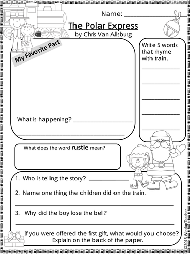 the polar express activity sheets print go by windupteacher teaching resources tes. Black Bedroom Furniture Sets. Home Design Ideas