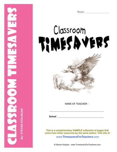 CLASSROOM TIMESAVERS