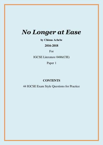 No longer at ease essay