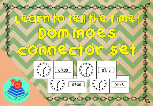 Time - tell the time dominoes - connector set