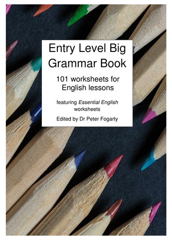 Big Grammar Books 1 and 2 Together! 202 Beginner Worksheets for pupils (few overlaps between them)