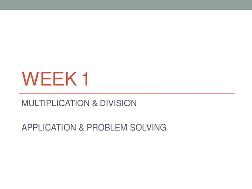 Y6 Master Multiplication- New Curriculum Maths -Weeks Lessons on PPT