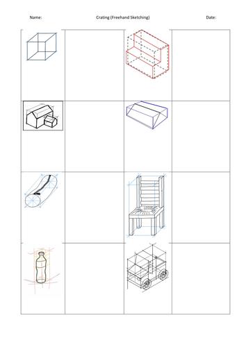 Crating (Freehand Sketching) Practice Worksheet