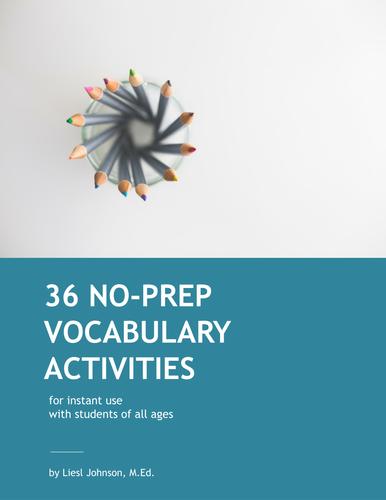 36 No-Prep Vocabulary Activities