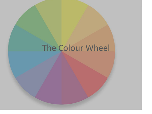 COLOUR WHEEL (PART OF THE FORMAL ELEMENTS SOW)