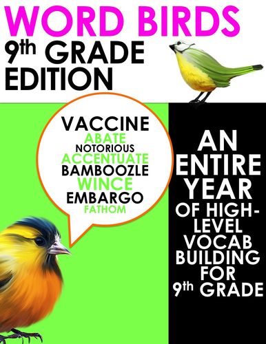 Word Birds Word of the Week Year 9 High-Level Vocabulary Builder: 40 Lessons!