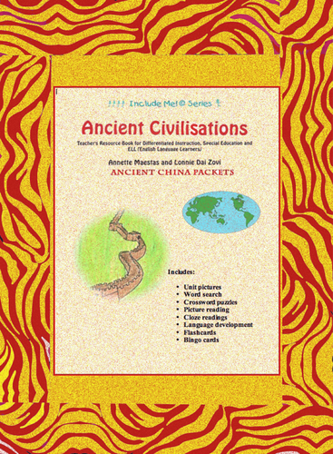 Ancient China Unit in Pictures for Differentiating Instruction, Special Ed., ELL and EFL Students