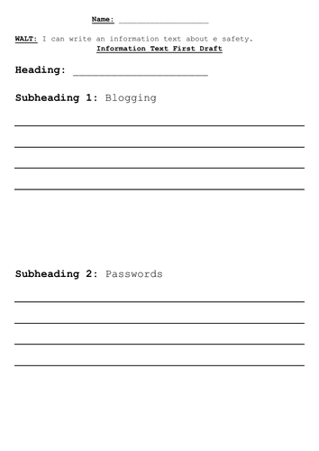 Blogging and E Safety