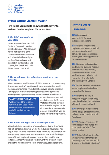 KS2 - What about James Watt?