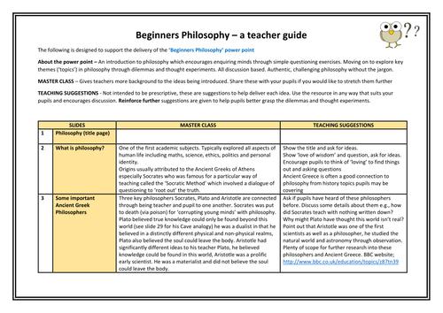 Beginners Philosophy