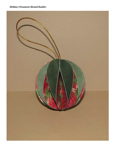 Christmas Crafts - Ornament (Round Bauble for the Holidays)
