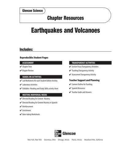 Volcanoes & Earthquakes Review