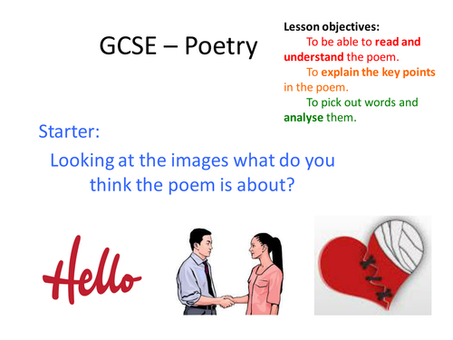GCSE - Poetry Ed Miliband