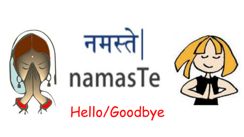 Hindi phrases for Classroom Display