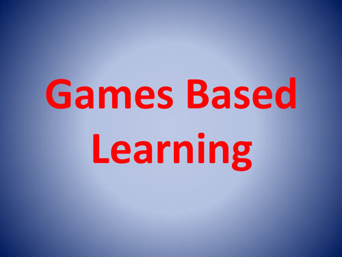 Games Based Learning ACfE Early Level