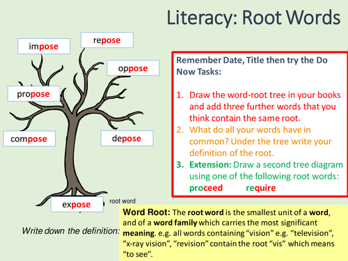 Word Roots, Prefixes and Suffixes by jigglemama | Teaching Resources