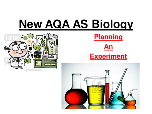 New AQA AS Biology Planning Experiment, processing data, presenting data, conclusions and evaluation
