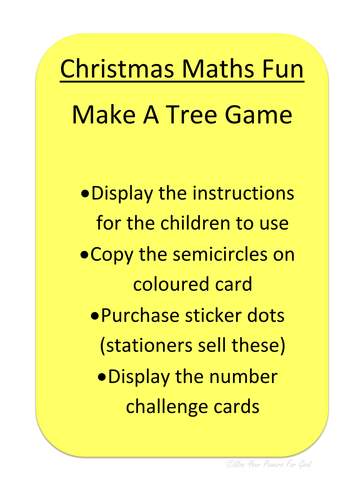 Christmas shape/ number/pattern  FUN TREE GAME  for md, numeracy