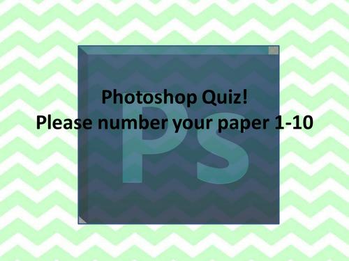 Photoshop Tools Quiz