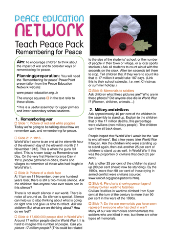 Remembering for Peace | Cofio dros Heddwch | Assembly for Remembrance