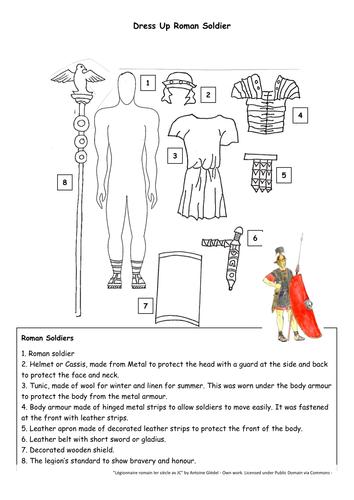 Dress Up Roman Soldier