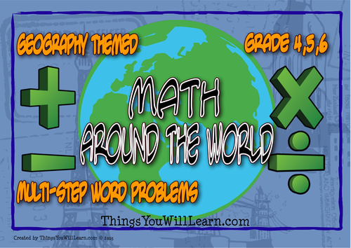 Math Around the World Word Problem Task Cards