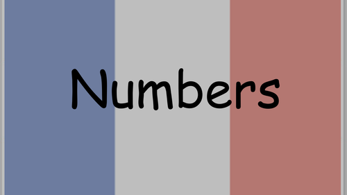 French numbers to 30 powerpoint