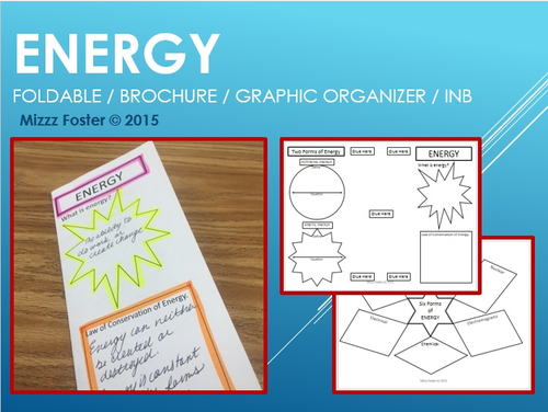 ENERGY foldable / graphic organizer / interactive notebook brochure