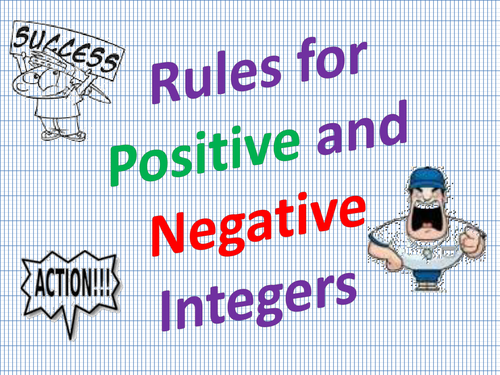 Rules for Positive and Negative Integers by moedonnelly Teaching – Integer Rules Worksheet