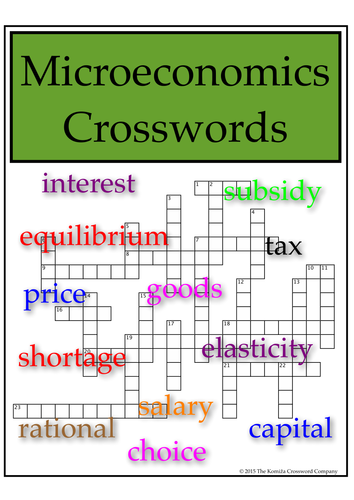 Microeconomics Crosswords